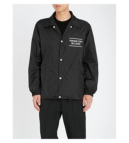 MAISON MARGIELA Logo-print shell jacket (Black