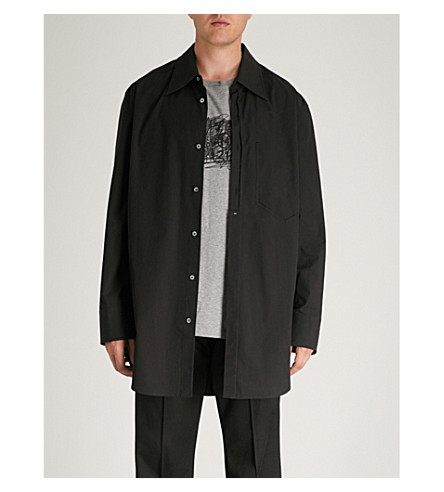 MAISON MARGIELA Regular-fit cotton-poplin shirt (Black