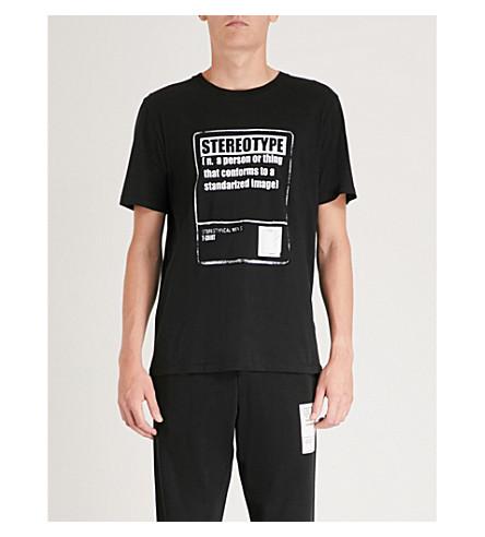 MAISON MARGIELA Stereotype cotton-jersey T-shirt (Black