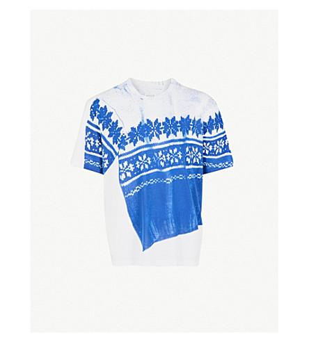 MAISON MARGIELA 平纹针织棉 T 恤 (白色