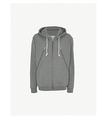 MAISON MARGIELA Zip-embellished cotton-jersey hoody (Stone