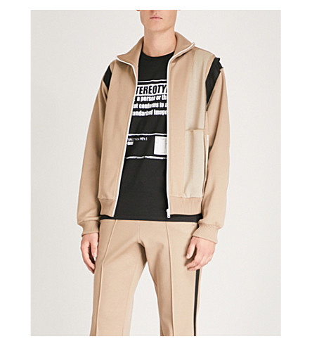 MAISON MARGIELA Panelled jersey jacket (Sand