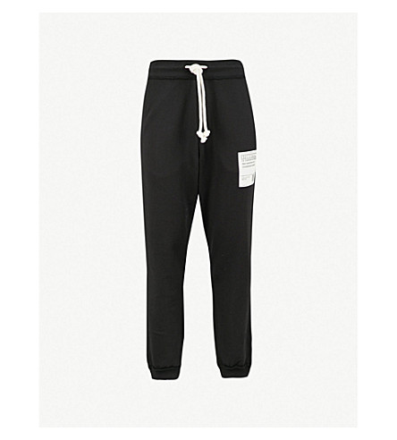 MAISON MARGIELA Relaxed-fit cotton-jersey jogging bottoms (Black
