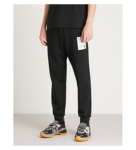 MAISON MARGIELA Relaxed-fit cotton-jersey jogging bottoms (Black