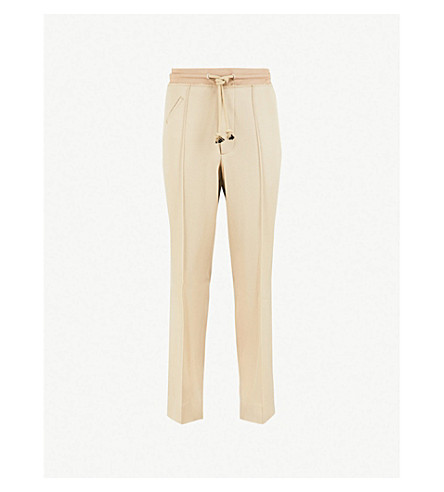 MAISON MARGIELA Regular-fit straight wool trousers (Sand