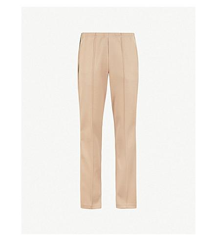 MAISON MARGIELA Side-stripe regular-fit straight woven trousers (Sand
