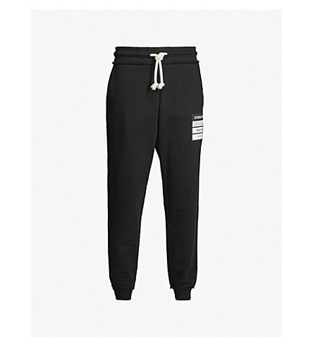MAISON MARGIELA Logo-print cotton-jersey jogging bottoms (Black