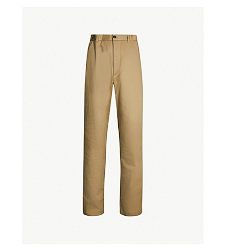 MAISON MARGIELA Regular-fit straight cotton trousers (Beige