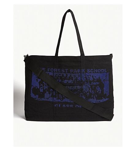 REESE COOPER森林公园学校超大号帆布手提包 (黑色