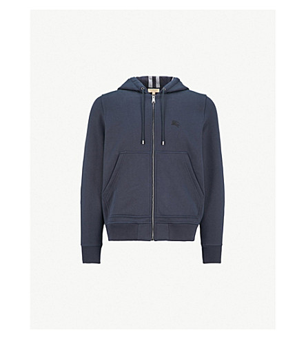BURBERRY Fordson cotton-blend hoody (Navy