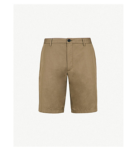 BURBERRY Stanhope slim-fit cotton chino shorts (Olive+green