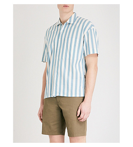 BURBERRY Harley striped regular-fit cotton shirt (Pale+opal