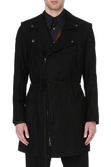 ANN DEMEULEMEESTER Biker wool-blend coat