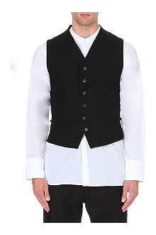 ANN DEMEULEMEESTER Snap-button wool-blend waistcoat