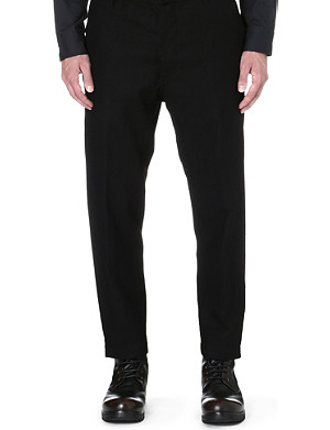 ANN DEMEULEMEESTER Pleated-side loose trousers