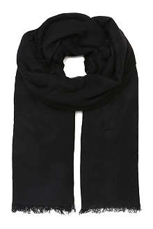 ANN DEMEULEMEESTER Large fringed scarf