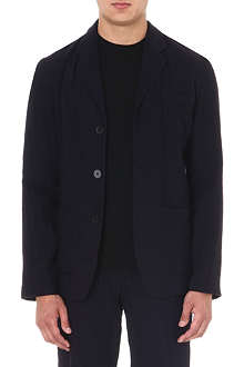 ANN DEMEULEMEESTER Laundered wool-blend blazer