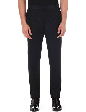 ANN DEMEULEMEESTER Satin-jacquard trousers