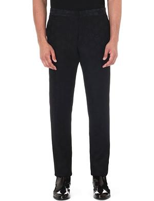 ANN DEMEULEMEESTER Satin-jacquard trousers
