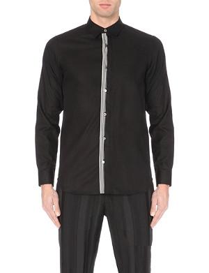 ANN DEMEULEMEESTER Striped cotton-blend shirt