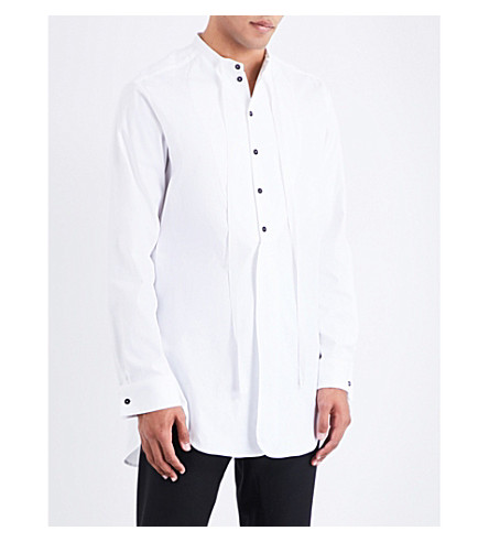 ANN DEMEULEMEESTER Longline loose-fit cotton shirt (White