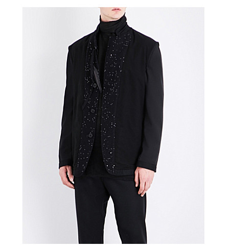 ANN DEMEULEMEESTER Sequin-embellished wool jacket (Black