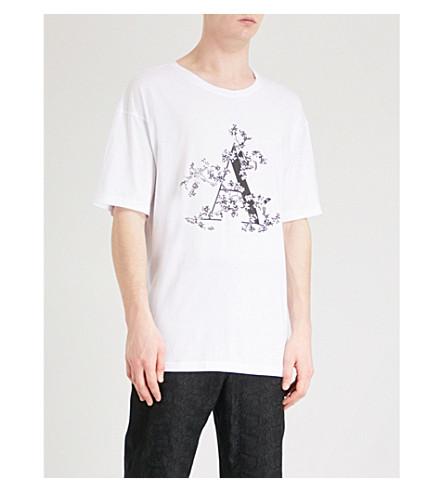 ANN DEMEULEMEESTER Floral-print cotton-jersey T-shirt (White