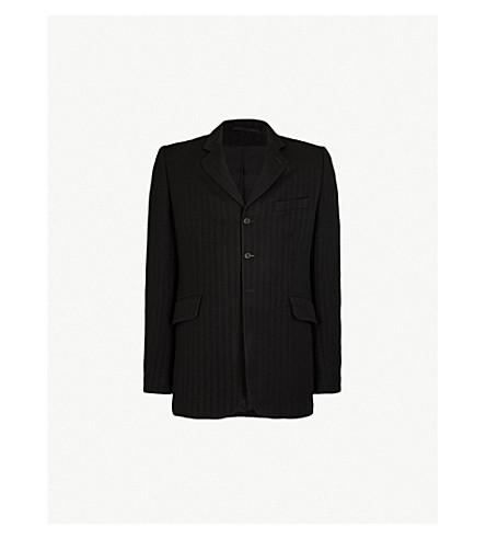 ANN DEMEULEMEESTER Chevron-patterned wool-blend jacket (Poberon+black