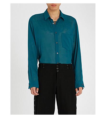 ANN DEMEULEMEESTER Regular-fit woven shirt (Tiriel+petrol