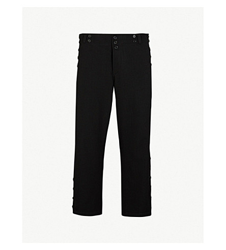 ANN DEMEULEMEESTER Howling regular-fit stretch-wool trousers (Howling+blac