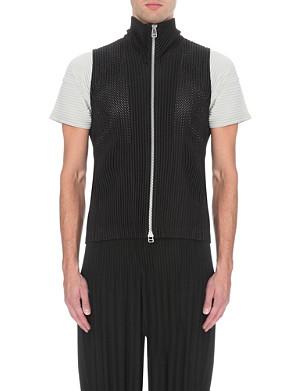 HOMME PLISSE ISSEY MIYAKE Perforated crepe waistcoat