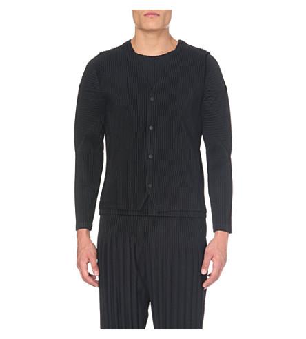 HOMME PLISSE ISSEY MIYAKE V-neck pleated waistcoat (Black
