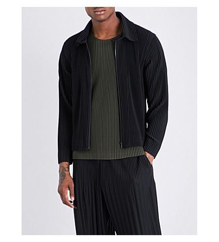 HOMME PLISSE ISSEY MIYAKE Western pleated jacket (Black