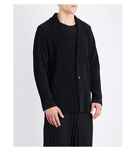 HOMME PLISSE ISSEY MIYAKE Pleated woven blazer (Black