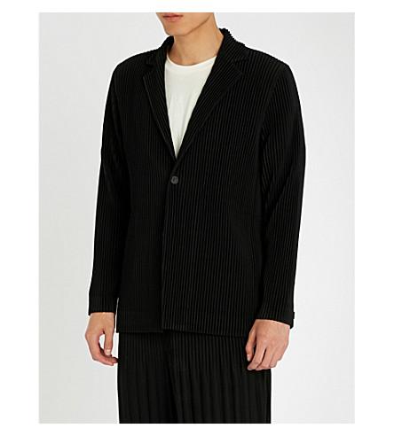 HOMME PLISSE ISSEY MIYAKE Single-breasted pleated jacket (Black