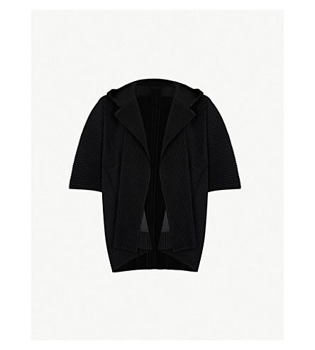 HOMME PLISSE ISSEY MIYAKE Hooded pleated jacket (Black