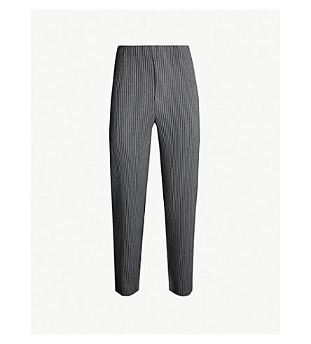 HOMME PLISSE ISSEY MIYAKE Wool Like regular-fit pleated crepe trousers (12