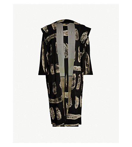 HOMME PLISSE ISSEY MIYAKE Body Painting abstract-print pleated jacket (46