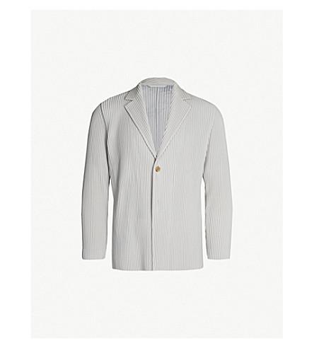 HOMME PLISSE ISSEY MIYAKE Single-breasted pleated blazer (11