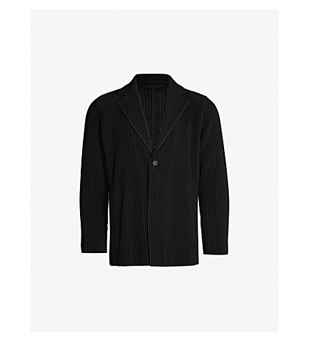 HOMME PLISSE ISSEY MIYAKE Single-breasted pleated blazer (15