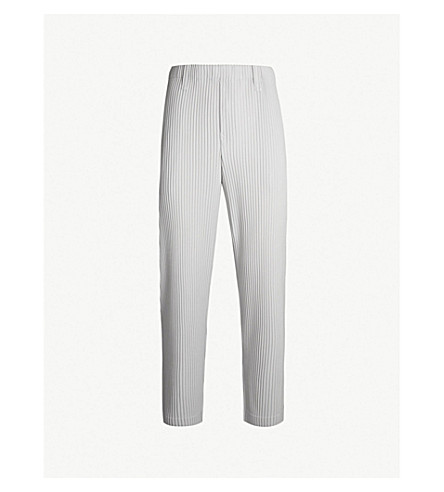 HOMME PLISSE ISSEY MIYAKE Slim Basics regular-fit pleated crepe trousers (11