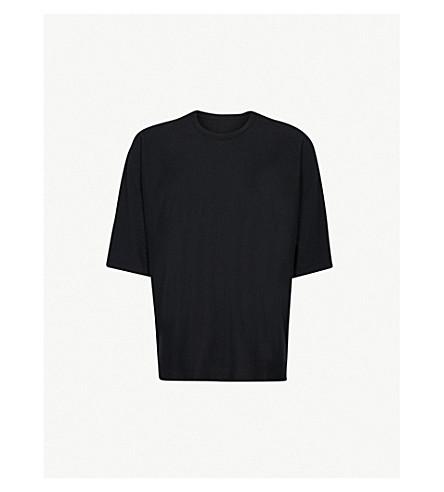 HOMME PLISSE ISSEY MIYAKE Batwing-sleeve cotton-jersey T-shirt (Black