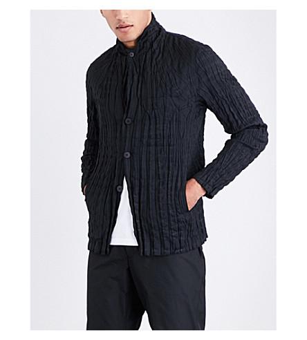ISSEY MIYAKE Wrinkle woven jacket (Black