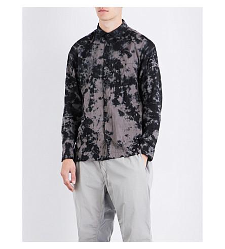 ISSEY MIYAKE Tie-dye regular-fit cotton shirt (Grey