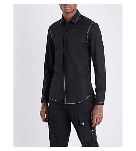 MAISON MARGIELA Contrast-stitch slim-fit cotton shirt (Black