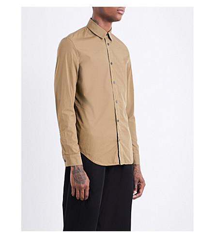 MAISON MARGIELA Regular-fit cotton shirt (Seaweed