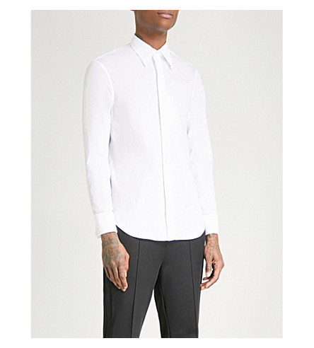 MAISON MARGIELA Slim-fit cotton shirt (White