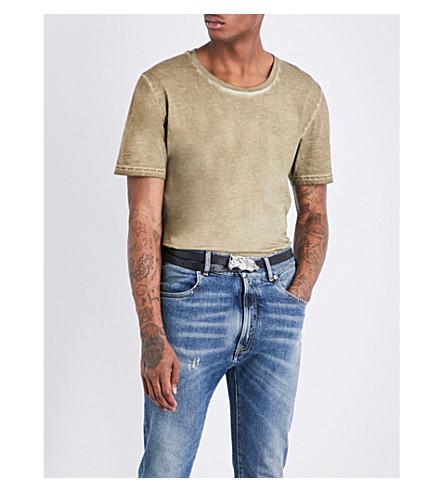 MAISON MARGIELA Crewneck cotton-jersey T-shirt (Seaweed