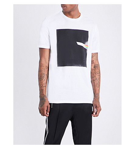 MAISON MARGIELA Graphic-print cotton-jersey T-shirt (White