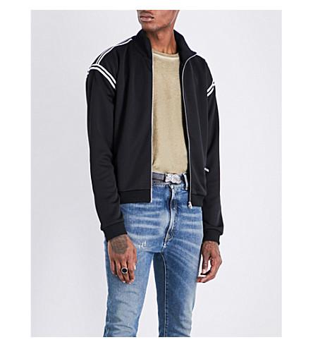 MAISON MARGIELA Contrast-trim jersey bomber jacket (Black